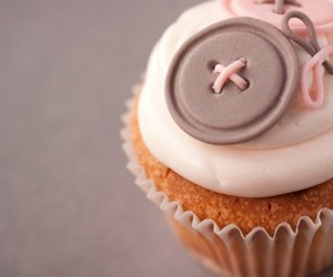 cupcake, buttons, and food image