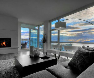 home, luxury, and sunset image