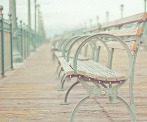 beautiful, bench, and romantic image