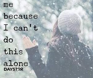 alone, faith, and inspiration image