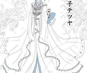blue hair anime girl image