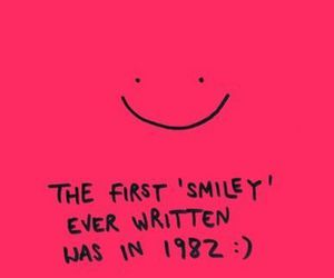 smiley, smile, and pink image