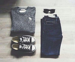 jean, moda, and sweter image