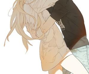 yuri, anime, and kiss image