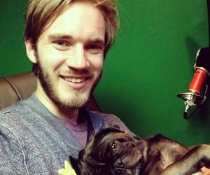 pewdiepie, dog, and Edgar image