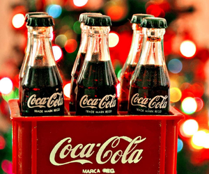 coca cola, christmas, and holiday image