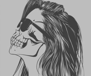 girl and skull image