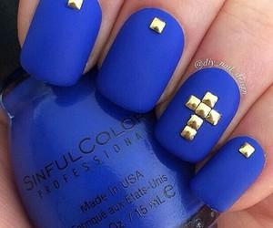 blue, nails, and matt image
