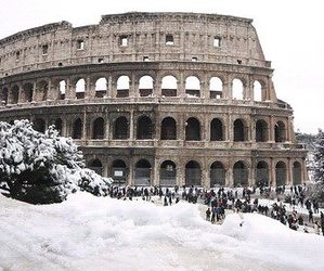 snow, rome, and winter image