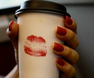 kiss, coffee, and nails image