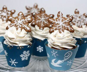 cupcake, christmas, and winter image