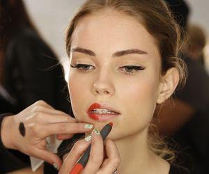 model, makeup, and lipstick image