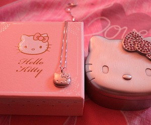hello kitty, necklace, and pink image