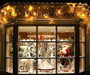 christmas, snow, and lights image