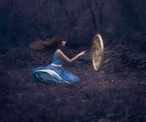 mirror, fantasy, and forest image