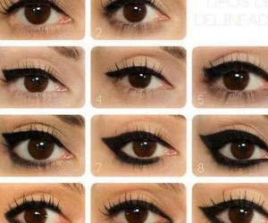 beau, maquillage, and eyes image