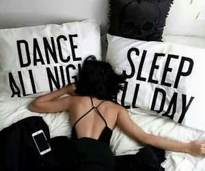 bed, hangover, and dance image