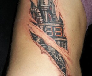 arm, metall, and tattoo image