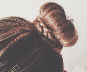 hipster and braid bun image