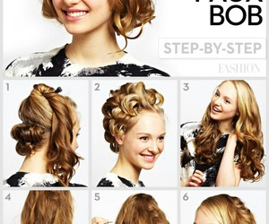 hairstyle, tutorial, and fashion image