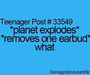 funny, planet, and teenager post image