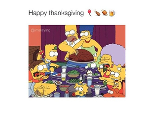 simpsons and thanksgiving image