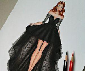 drawing, fashion, and art image