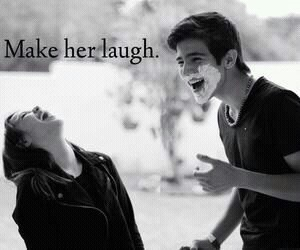 love, laugh, and couple image