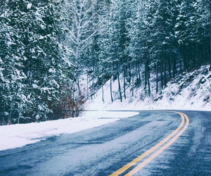 nature, road, and snow image