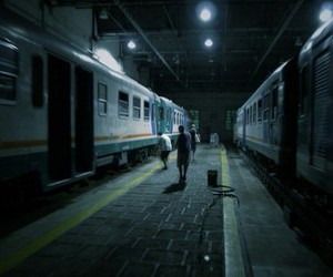 grunge, train, and photography image