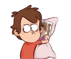 pillow, gravity falls, and dipper pines image