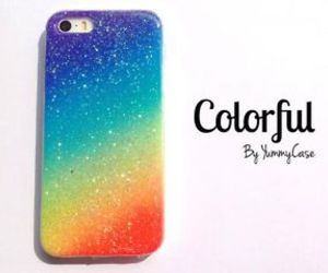 case, colorful, and glitter image