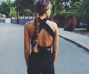 black, hair, and fashion image