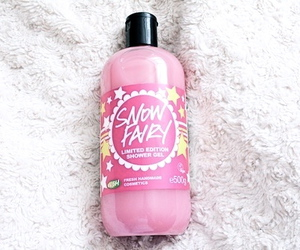pink, lush, and snow fairy image