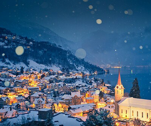 snow, winter, and city image