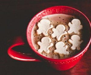 christmas, coffee cup, and marsmellows image