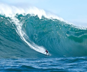 blue, sea, and surf image