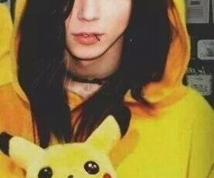 andy biersack, bvb, and pikachu image