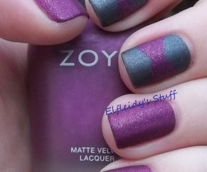 nails, cute, and simple. purple image