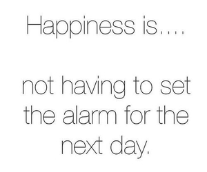 happiness, sleep, and alarm image