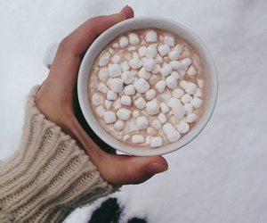 marshmallows, winter, and hot ​chocolate image