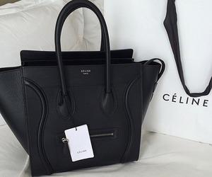 celine, bag, and black image