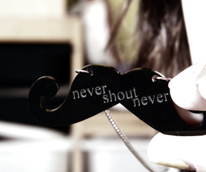 never shout never, mustache, and nevershoutnever image