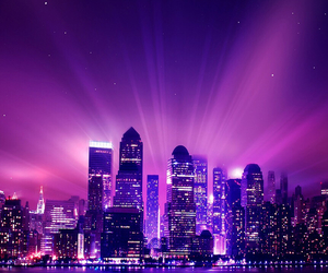 city, purple, and pink image