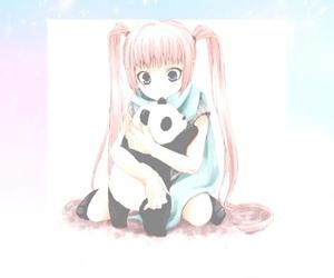 anime, anime girl, and panda image