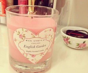 candle, pink, and style image