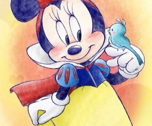 disney, minnie, and snow white image