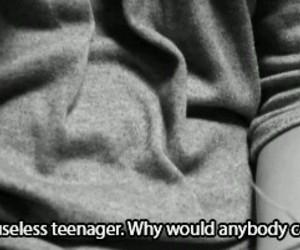 teenager, Useless, and depression image