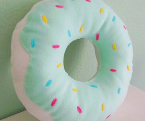 donuts, pillow, and food image