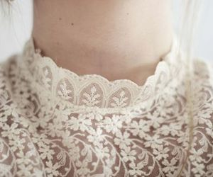 lace, white, and vintage image